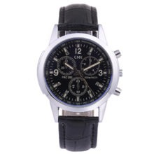 Casual Leather Strap Quartz Watches for Man