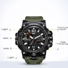 Luxury Digital Casual Watches With Dual Display for Men