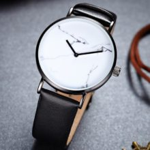 Ultra-Thin Classic Leather Quartz Watches