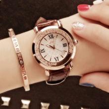 Luxury Fashion Rhinestone Quartz Wrist Watch for Women